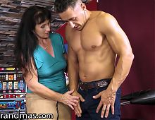 LustyGrandmas, Dirty GILF Loves To Play With Balls