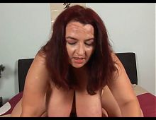 Unforgettable Redhead-BBW-Milf with Huge-Boobs fucked