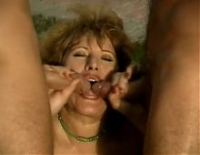 Chubby Outdoor Mature DP ThreeSome