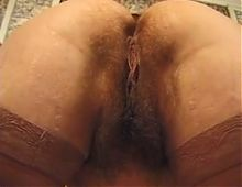 hairy BBW french mature foursome
