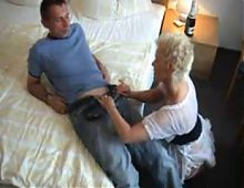 amateur mature sucks and fucks a young guy