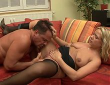 Hot action with blonde milf
