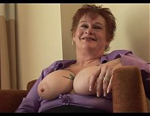 Busty Granny Interview And Fuck