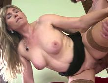 GILF and MILF fuck young boys
