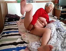 Amateur Asian Granny With Younger