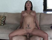 Smoking hot Claire Dames is an insatiable, brunette fuck dol