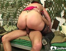 Granny gets a hard cock inside of her