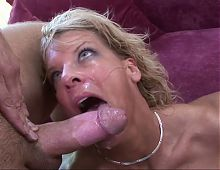 Hot and sweaty MILF is getting fucked