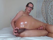 Big asses MILF riding a dildo
