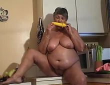 Old fat slut at home constantly masturbates and cums Part 2