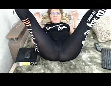 My favorite mature lady in leggings