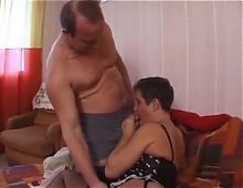 French Bubble Butt Daddy fucks his wife