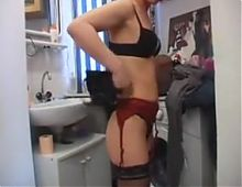 Mom Gets Dressed,Cuffed & Anal