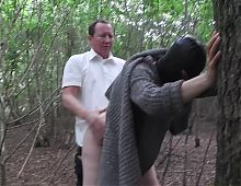 Slut Wife Hooded in Forest and Fucked by Stranger Part2