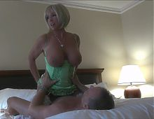 Hot Milf in green dress