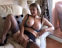 Big Tit British Mature Solo