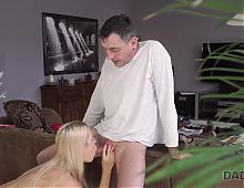 DADDY4K. Horny old man catches the right moment to seduce