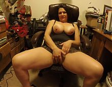 Busty mature with young man