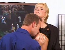 Mature Blonde With Big Boobs Gets Drilled