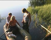 Young guys while fishing fuck old woman