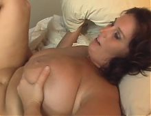 Brunette BBW-Milf enjoys hard Fuck
