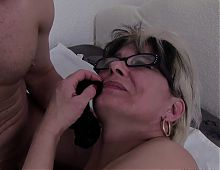 Old & Young - grandma caught with her panties