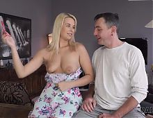 DADDY4K. Beautiful Dream Nikki gives BFs dad her pussy